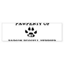 Pawperty: Parson Russell Terr Bumper Bumper Sticker
