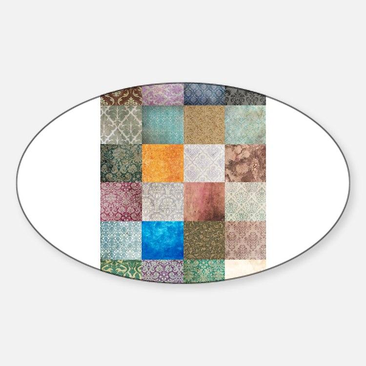 Patchwork Quilt squares patte Decal