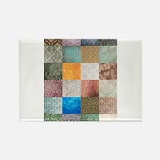 Patchwork Quilt squares patte Rectangle Magnet (10
