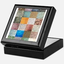 Patchwork Quilt squares patte Keepsake Box