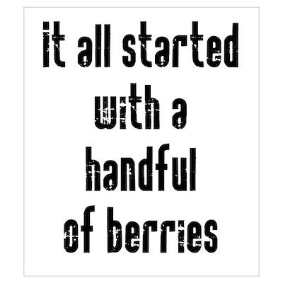 Handful of Berries Wall Art Poster