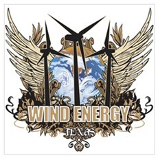 Texas Wind Energy Wall Art Poster