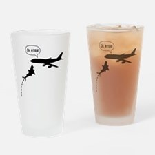 MegaShark Attacks Plane Drinking Glass