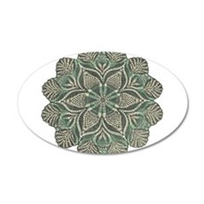 Green and Black Lacey Doily d 22x14 Oval Wall Peel