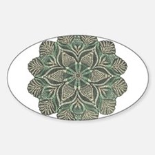 Green and Black Lacey Doily d Decal