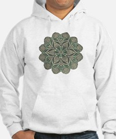 Green and Black Lacey Doily d Hoodie