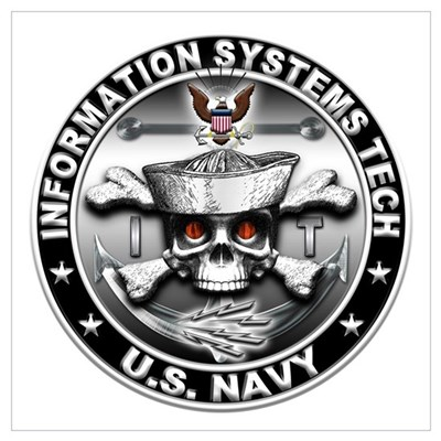 USN Information Systems Techn Wall Art Poster