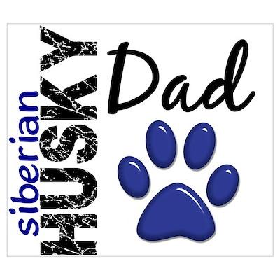 Siberian Husky Dad 2 Wall Art Poster