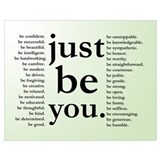 Be you Wrapped Canvas Art