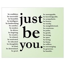 Just Be You Poster Canvas Art