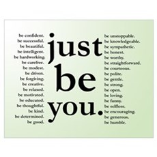 Just Be You Poster Poster