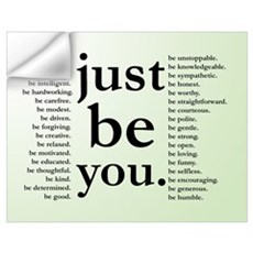 Just Be You Poster Wall Decal