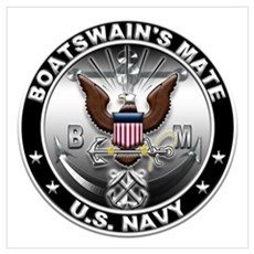 USN Boatswain's Mate Eagle BM Wall Art Framed Print