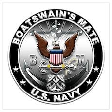 USN Boatswain's Mate Eagle BM Wall Art Poster