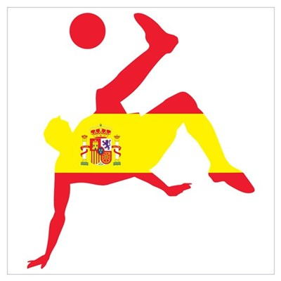 Spain Soccer Wall Art Canvas Art