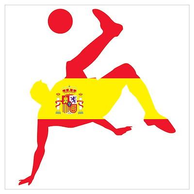 Spain Soccer Wall Art Poster