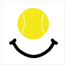 Tennis Smile Wall Art Framed Print