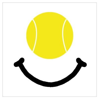 Tennis Smile Wall Art Poster