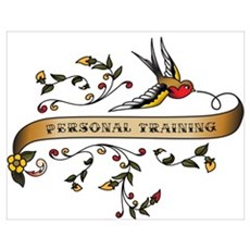 Personal Training Scroll Wall Art Poster