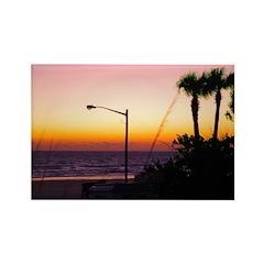 Coastal Tropical Landscape Da Rectangle Magnet (10