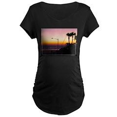 Coastal Tropical Landscape Da T-Shirt