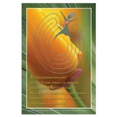 Dancing Woman Labyrinth (tm) Wall Art Poster