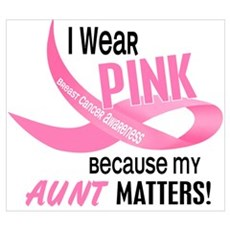 I Wear Pink For My Aunt 33.2 Wall Art Poster