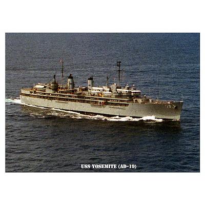 USS YOSEMITE Wall Art Poster