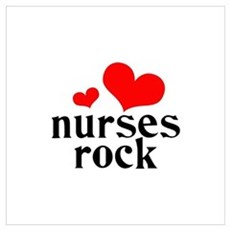 nurses rock (red/black) Wall Art Canvas Art