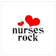 nurses rock (red/black) Wall Art Poster