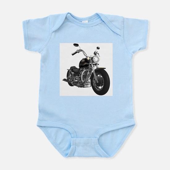 BLACK MOTORCYCLE Infant Creeper