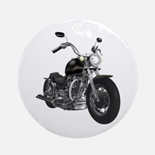 BLACK MOTORCYCLE Ornament (Round)