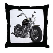BLACK MOTORCYCLE Throw Pillow