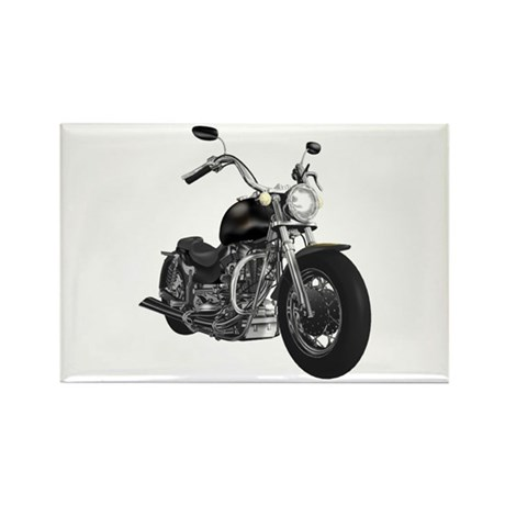BLACK MOTORCYCLE Rectangle Magnet (100 pack)