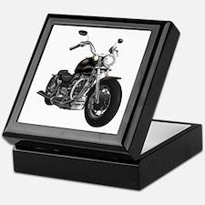 BLACK MOTORCYCLE Keepsake Box