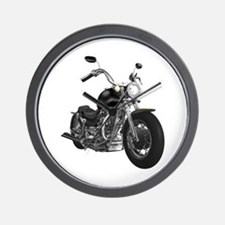 BLACK MOTORCYCLE Wall Clock