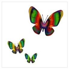 Psychedeliflies Wall Art Poster