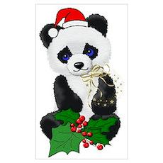 Christmas Panda Wall Art Poster