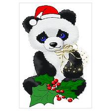 Christmas Panda Wall Art
