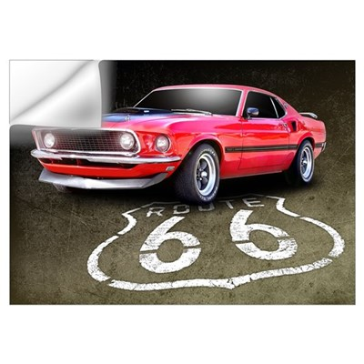 Route 66 Mustang Wall Art Wall Decal