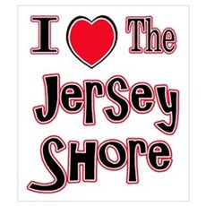 I love the jersey shore red Wall Art Canvas Art