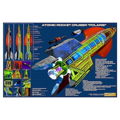 Atomic Rocket Cruiser Polaris Poster