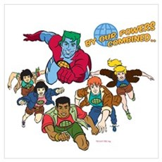 Captain Planet Powers Wall Art Poster
