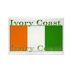 Ivorians Ivory Coast Flag Rectangle Magnet (100 pa