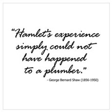 George Bernard Shaw on Hamlet Wall Art Poster