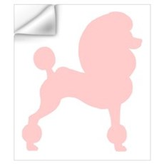 Pink Poodle Wall Art Wall Decal