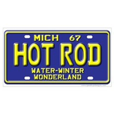 Hot Rod License Plate Wall Art Poster