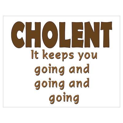 JEWISH CHOLENT Wall Art Poster