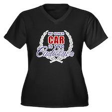 Cute My other car Women's Plus Size V-Neck Dark T-Shirt