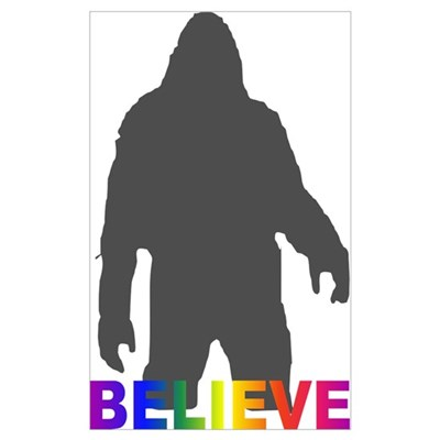 Believe in Bigfoot Wall Art Canvas Art